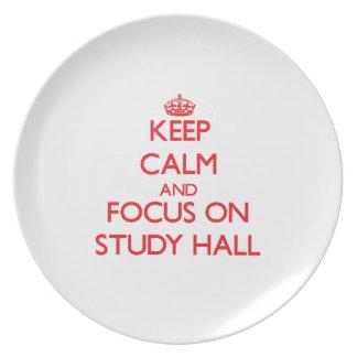 Keep Calm and focus on Study Hall Plates