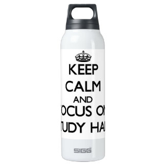 Keep Calm and focus on Study Hall 16 Oz Insulated SIGG Thermos Water Bottle