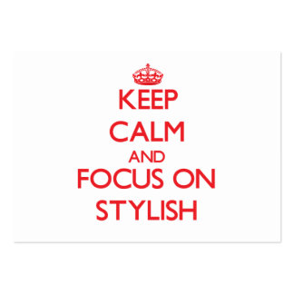 Keep Calm and focus on Stylish Business Card