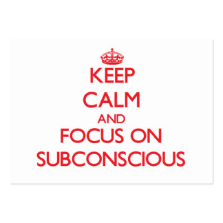 Keep Calm and focus on Subconscious Large Business Cards (Pack Of 100)