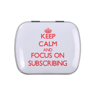Keep Calm and focus on Subscribing Jelly Belly Tins