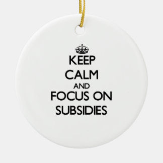 Keep Calm and focus on Subsidies Ornament