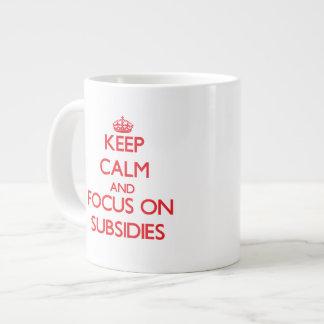 Keep Calm and focus on Subsidies Jumbo Mug