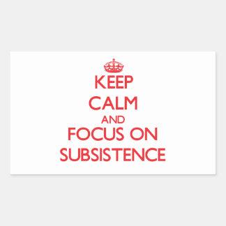 Keep Calm and focus on Subsistence Rectangular Sticker