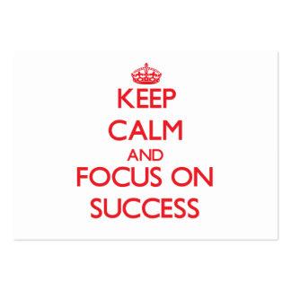 Keep Calm and focus on Success Business Card Templates