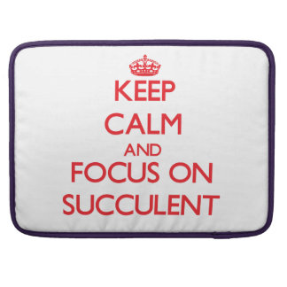 Keep Calm and focus on Succulent Sleeves For MacBook Pro