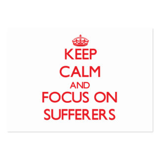 Keep Calm and focus on Sufferers Large Business Cards (Pack Of 100)