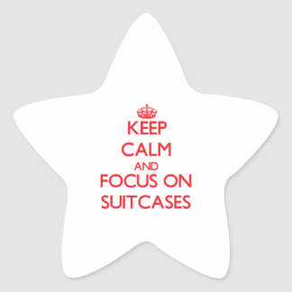 Keep Calm and focus on Suitcases Stickers