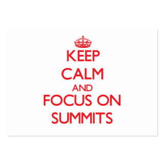 Keep Calm and focus on Summits Large Business Cards (Pack Of 100)