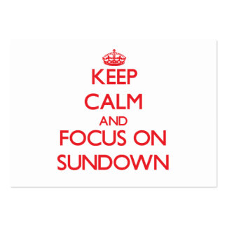 Keep Calm and focus on Sundown Large Business Cards (Pack Of 100)