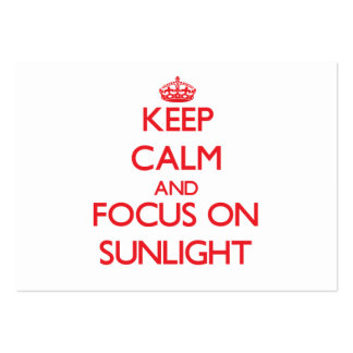 Keep Calm and focus on Sunlight Business Card Template