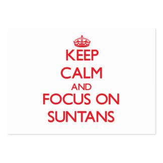 Keep Calm and focus on Suntans Business Card Templates