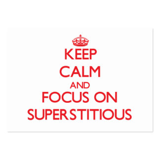 Keep Calm and focus on Superstitious Large Business Cards (Pack Of 100)