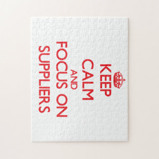 Keep Calm and focus on Suppliers Puzzle