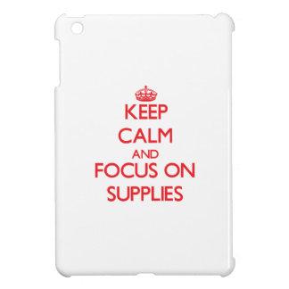 Keep Calm and focus on Supplies iPad Mini Cases