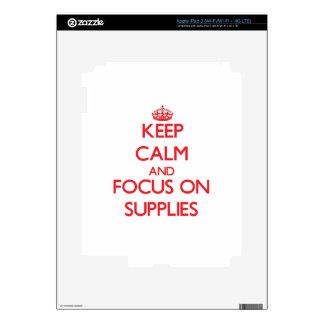 Keep Calm and focus on Supplies iPad 3 Decal