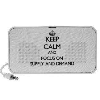 Keep Calm and focus on Supply And Demand iPhone Speakers