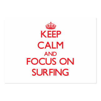 Keep calm and focus on Surfing Business Card Templates
