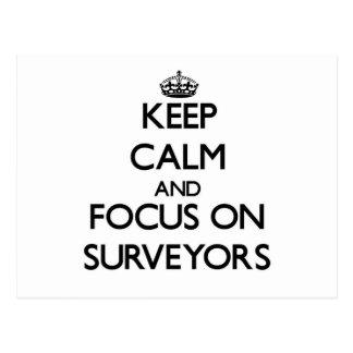 Keep Calm and focus on Surveyors Post Card