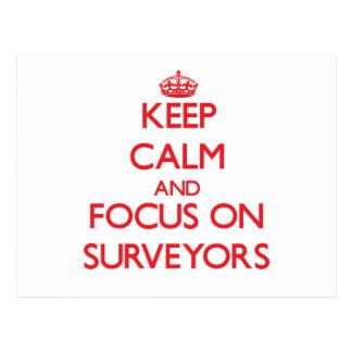 Keep Calm and focus on Surveyors Postcards