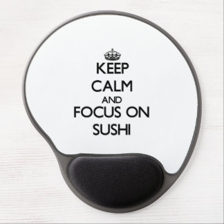 Keep Calm and focus on Sushi Gel Mouse Mats