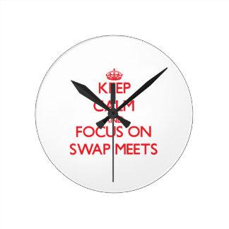 Keep Calm and focus on Swap Meets Wallclock