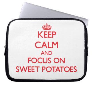 Keep Calm and focus on Sweet Potatoes Computer Sleeve