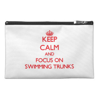 Keep Calm and focus on Swimming Trunks Travel Accessory Bag