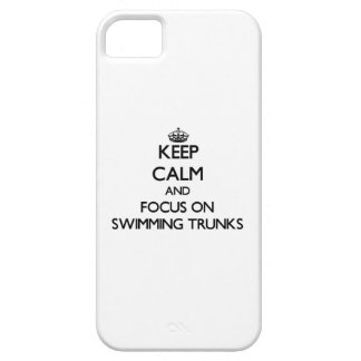 Keep Calm and focus on Swimming Trunks iPhone 5 Covers