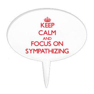 Keep Calm and focus on Sympathizing Cake Picks