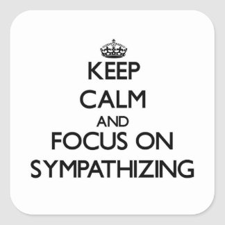 Keep Calm and focus on Sympathizing Stickers