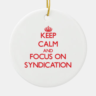 Keep Calm and focus on Syndication Christmas Tree Ornaments