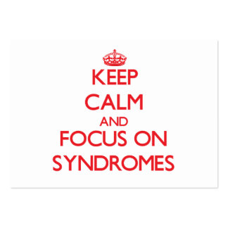 Keep Calm and focus on Syndromes Large Business Cards (Pack Of 100)