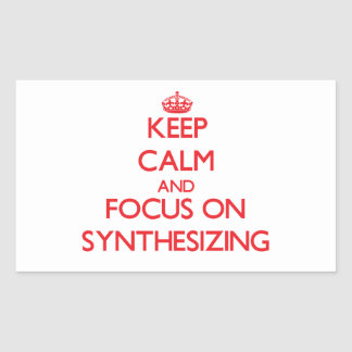 Keep Calm and focus on Synthesizing Stickers