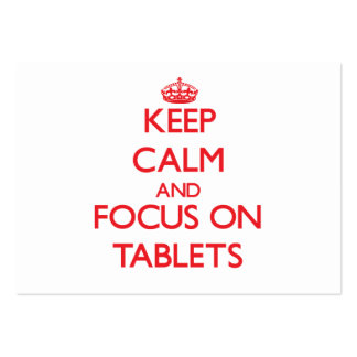 Keep Calm and focus on Tablets Business Card Template