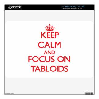 Keep Calm and focus on Tabloids MacBook Air Decals