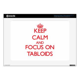 Keep Calm and focus on Tabloids Samsung Chromebook Decals
