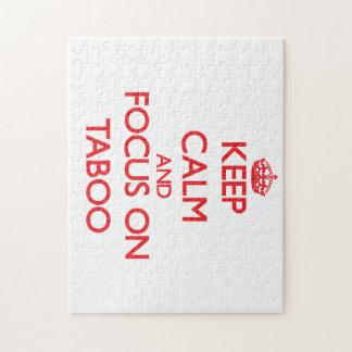 Keep Calm and focus on Taboo Jigsaw Puzzle