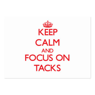Keep Calm and focus on Tacks Large Business Cards (Pack Of 100)