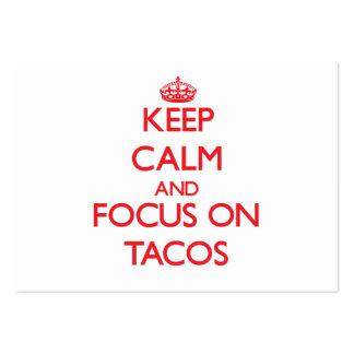 Keep Calm and focus on Tacos Business Card Templates