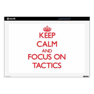 "Keep Calm and focus on Tactics 17"" Laptop Decal"
