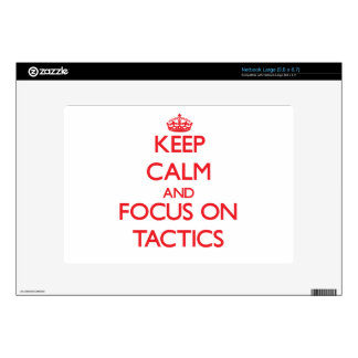 Keep Calm and focus on Tactics Large Netbook Decal