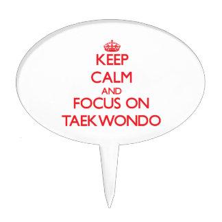 Keep calm and focus on Taekwondo Cake Pick