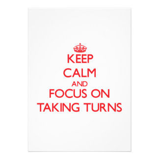 Keep Calm and focus on Taking Turns Personalized Invites