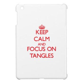 Keep Calm and focus on Tangles iPad Mini Cover