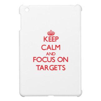 Keep Calm and focus on Targets iPad Mini Cover