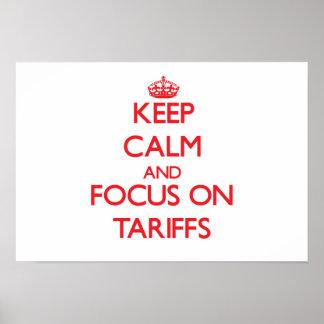 Keep Calm and focus on Tariffs Print