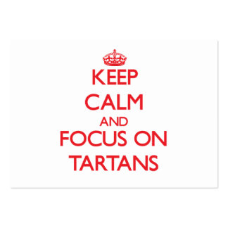 Keep Calm and focus on Tartans Large Business Cards (Pack Of 100)