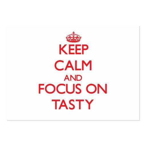 Keep Calm and focus on Tasty Business Card Templates