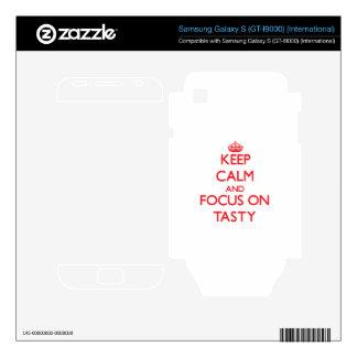 Keep Calm and focus on Tasty Samsung Galaxy S Skins